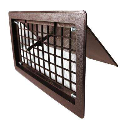 17.25 in. x 9.75 in. ABS Plastic Manual Open Foundation Vent in Brown