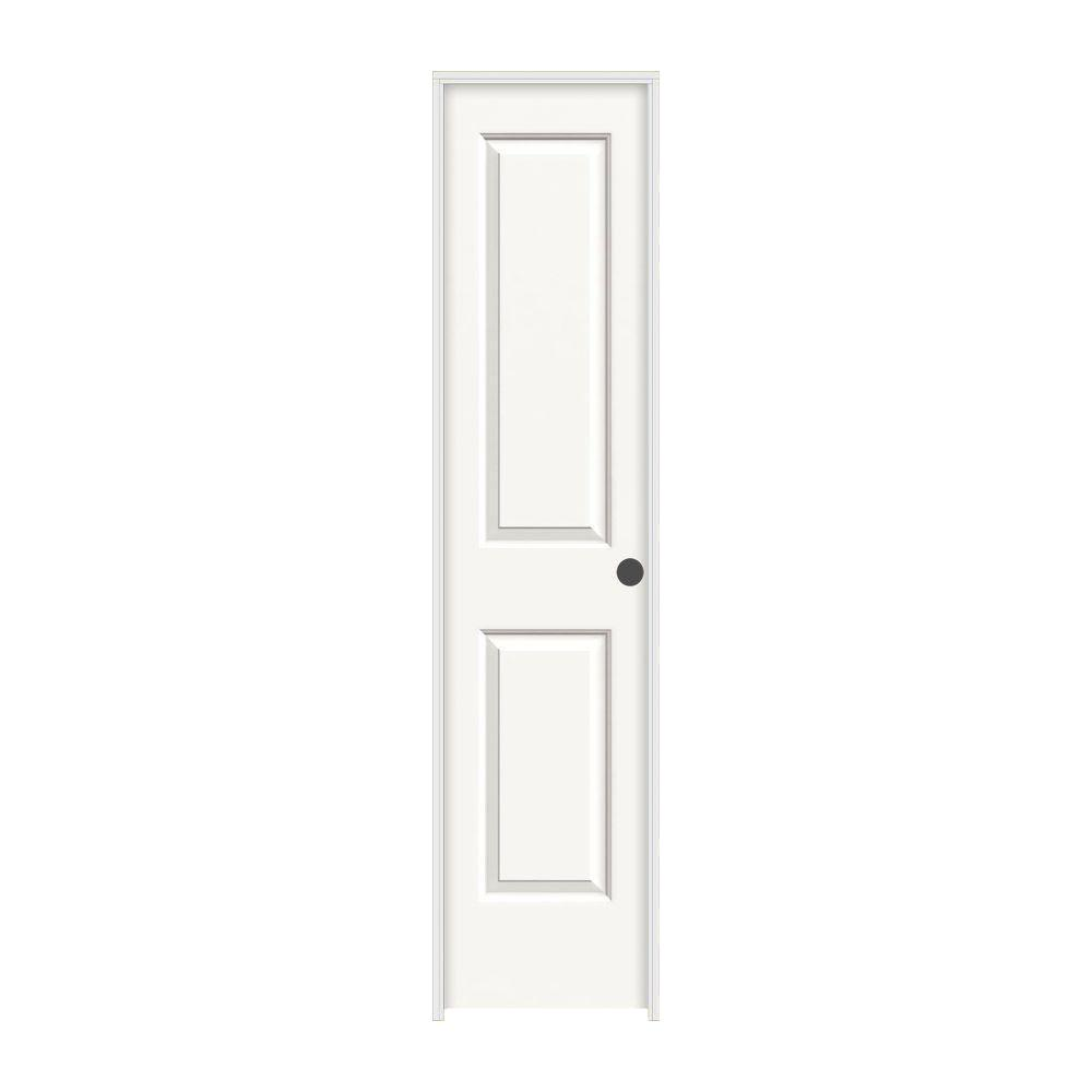 JELD-WEN 18 in. x 80 in. Cambridge White Painted Left-Hand Smooth Molded Composite MDF Single Prehung Interior Door