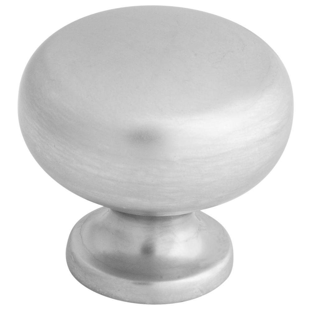 Stanley-National Hardware 1-1/4 in. Basic Satin Chrome Decorative Cabinet and Door Round Knob
