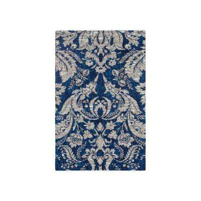 Connemara Navy Jacquard Chenille 2 Ft X 3 Textured Area Rug