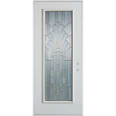 37.375 in. x 82.375 in. Art Deco Full Lite Painted White Left-Hand  sc 1 st  Home Depot : stanley door - pezcame.com