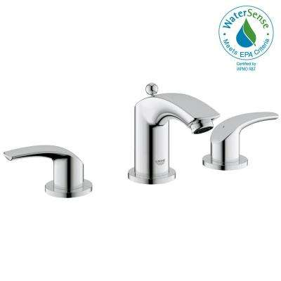 Eurosmart 8 in. Widespread 2-Handle 1.2 GPM Bathroom Faucet in StarLight Chrome