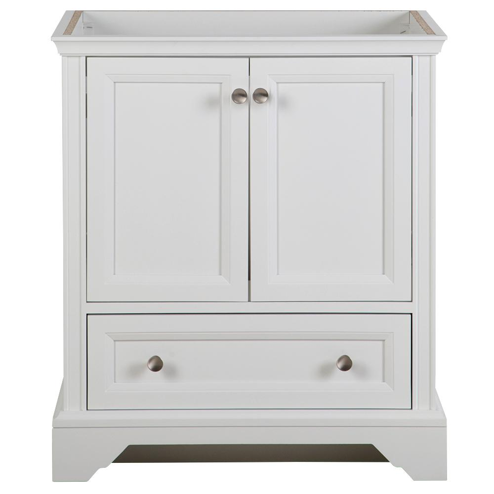 Home Decorators Collection Stratfield 30 in. W x 22 in. D x 34 in. H Bath Vanity Cabinet Only in White
