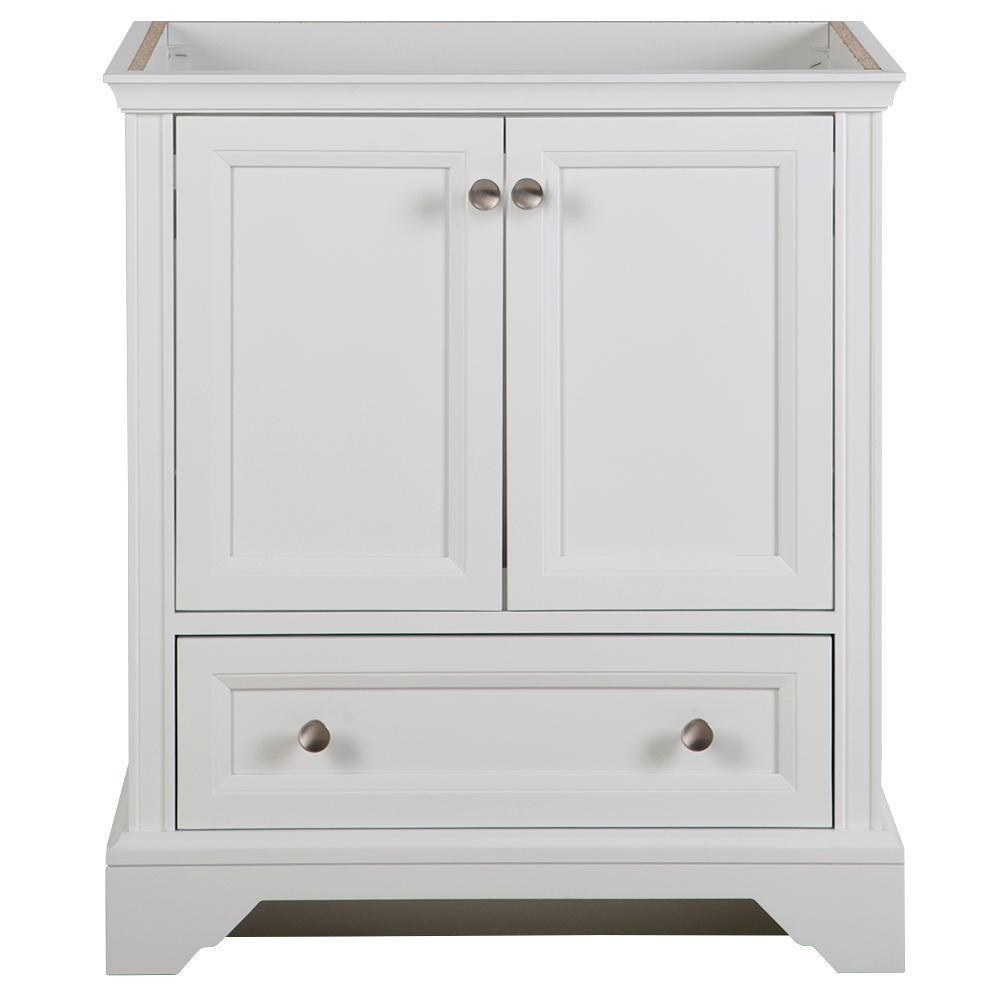 Stratfield 30 in. W x 22 in. D x 34 in. H Bath Vanity Cabinet Only in White