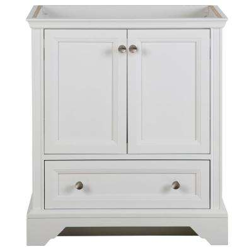 Stratfield 30 in. W x 21.57 in. D x 34.25 in. H Bath Vanity Cabinet Only in White