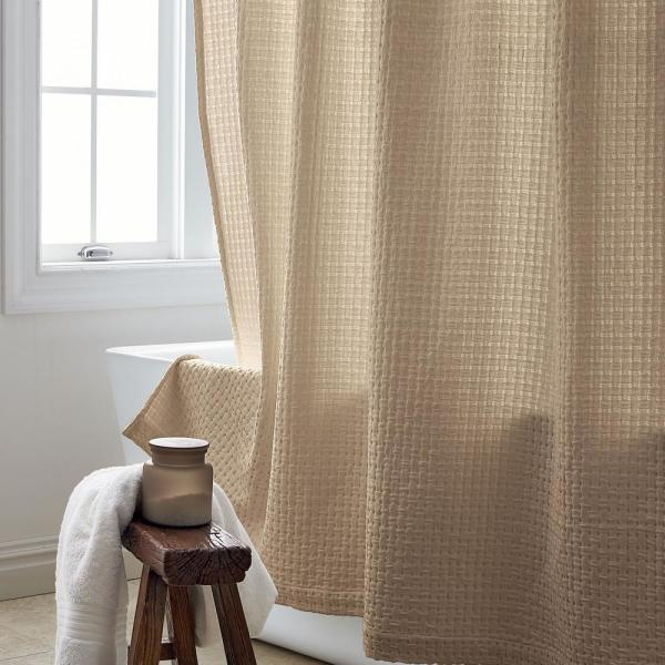 The Company Store Basket Weave 72 in. Twine Shower Curtain
