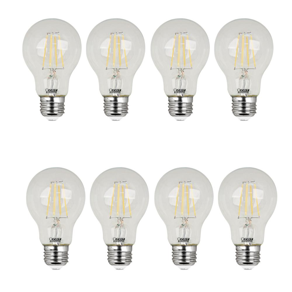 40w Equivalent Soft White 2700k A19 Filament Led Clear Gl Light Bulb 8 Pack