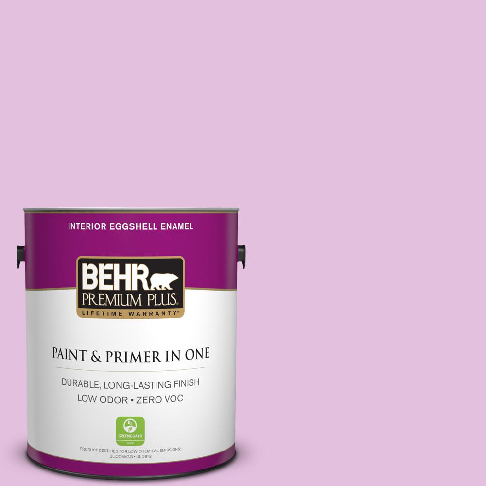 BEHR Premium Plus 1 gal. #P110-2 Girl Talk Eggshell Enamel Zero VOC Interior Paint and Primer in One