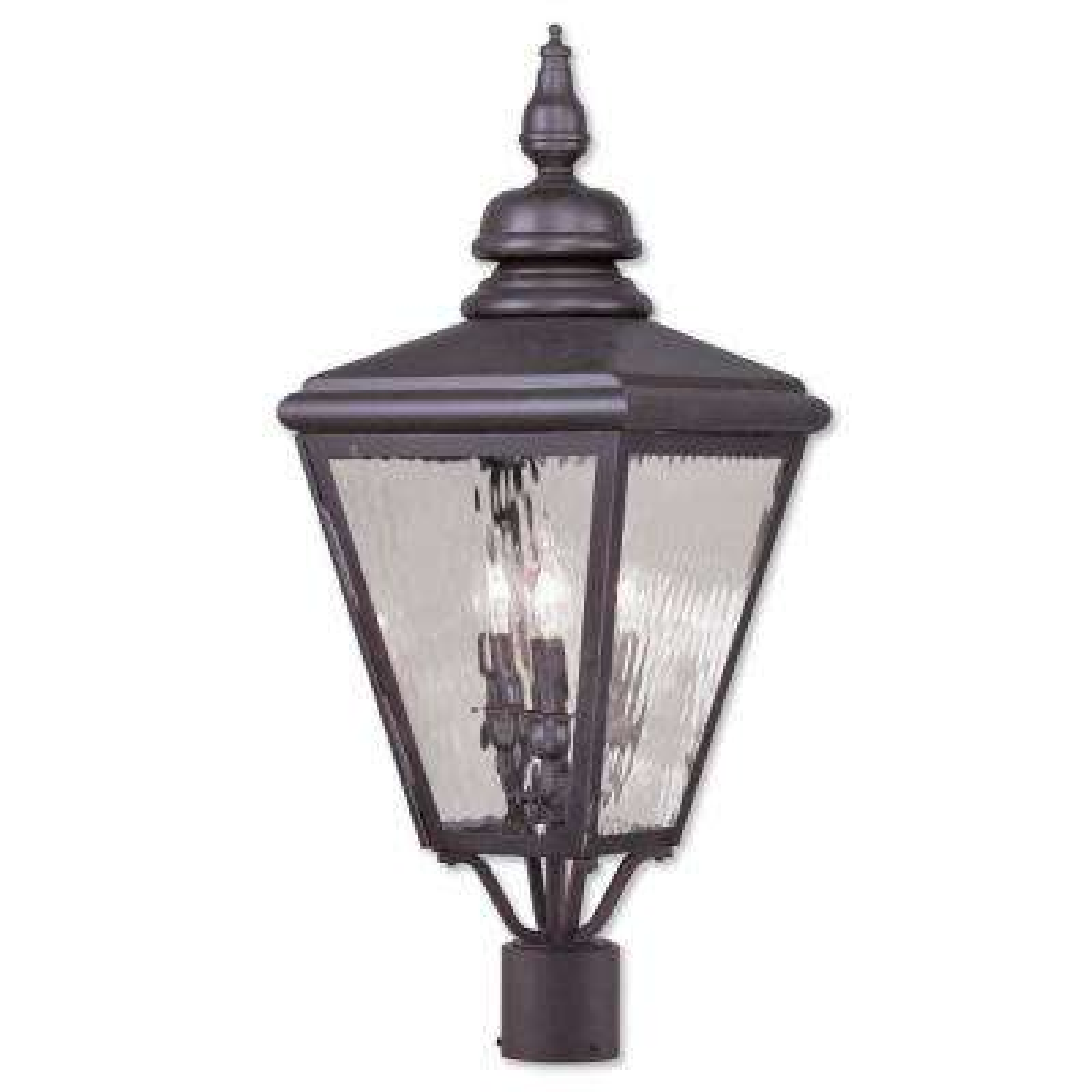 Cambridge 3-Light Outdoor Bronze Lamp Post