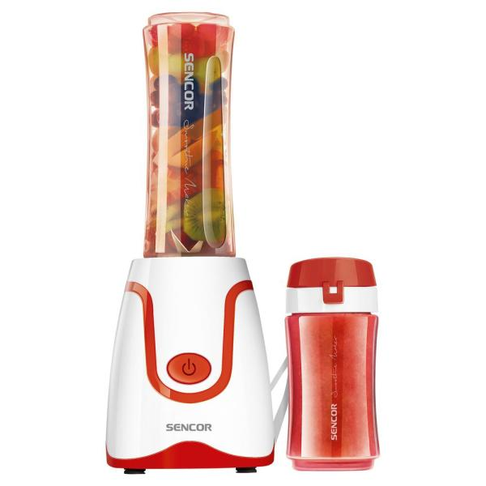 20 oz. Single Speed Red Smoothie Blender with 2 Bottles