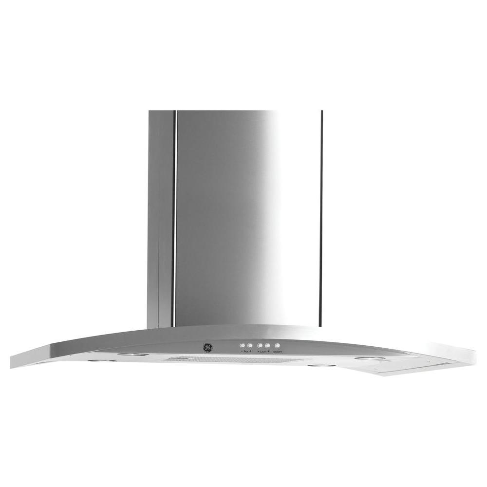 designer range hood in stainless steel