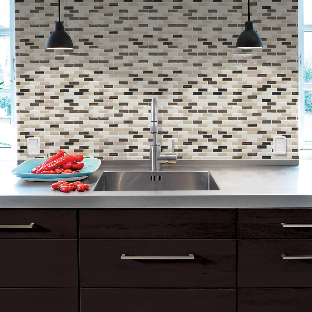 Smart Tiles Murano Dune 1020 In X 910 In Peel And Stick