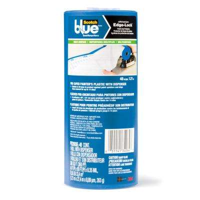 4 ft. x 90 ft. Clear Pre-Taped Painter's Plastic Sheet with Edge Lock and Dispenser (Case of 6)