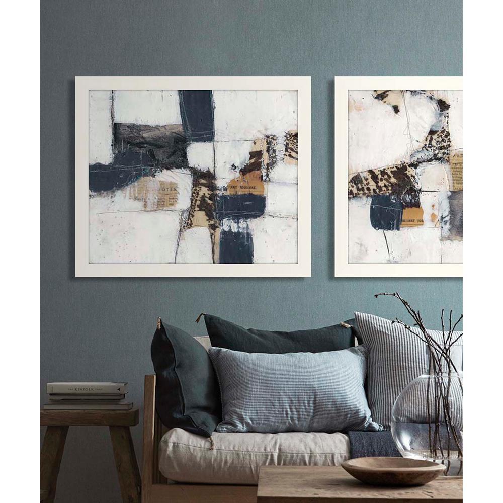 """27 in. x 23 in. """"Art House II"""" Framed Giclee Print Wall Art"""