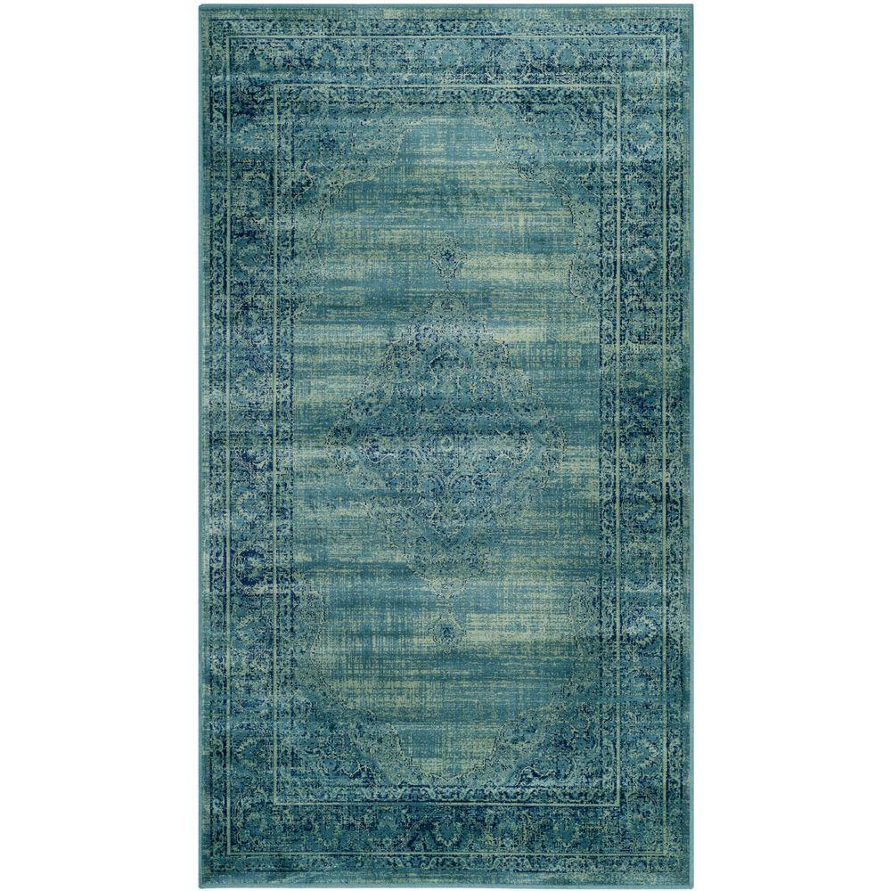 Turquoise Area Rug 8x10: Safavieh Vintage Turquoise/Multi 4 Ft. X 5 Ft. 7 In. Area