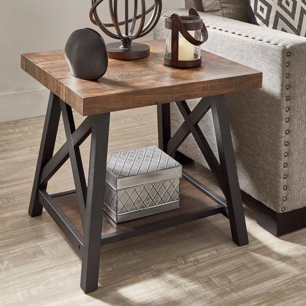 HomeSullivan Brown End Table With Shelf 40E460BR-04