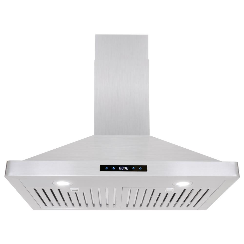 30 in. Ducted Range Hood in Stainless Steel with Touch Controls,