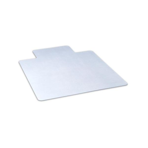 36 in. x 48 in. Clear Office Chair Mat with Lip for Hard Floors
