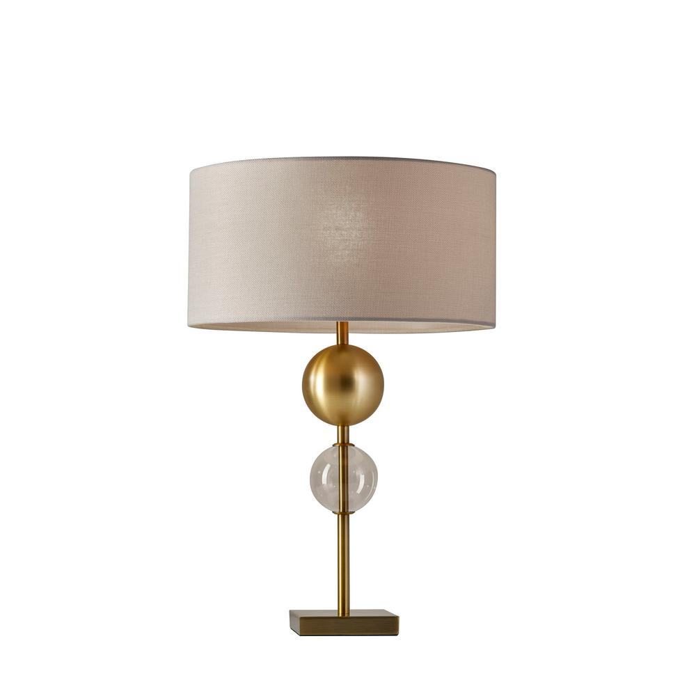 Chloe 24 in. Antique Brass Table Lamp
