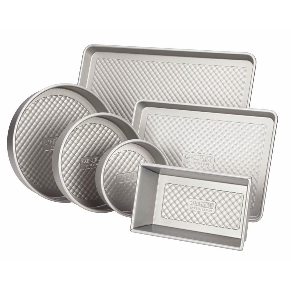 Professional 6-Piece Silver Bakeware Set