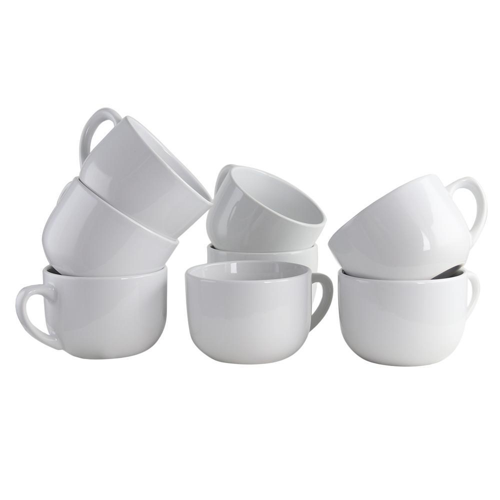 Sensations 22 oz. White Latte Mug (Set of 8)