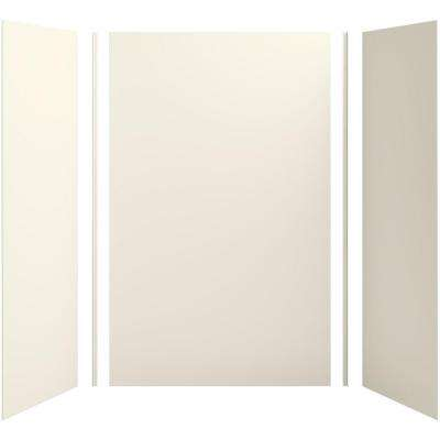 Choreograph 60in. X 32 in. x 96 in. 5-Piece Shower Wall Surround in Biscuit for 96 in. Showers