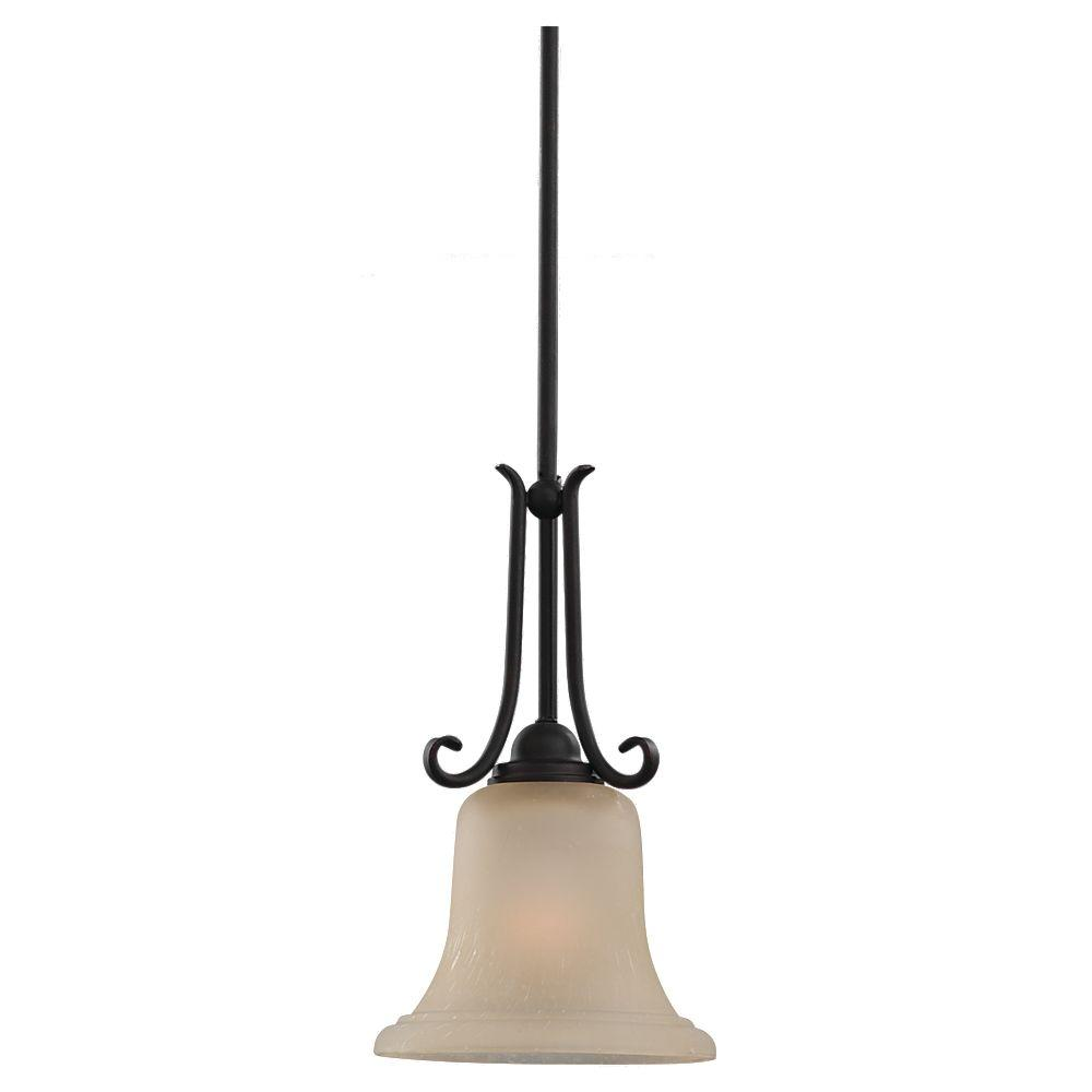 Sea Gull Lighting Del Prato 1 Light Chestnut Bronze Mini Pendant