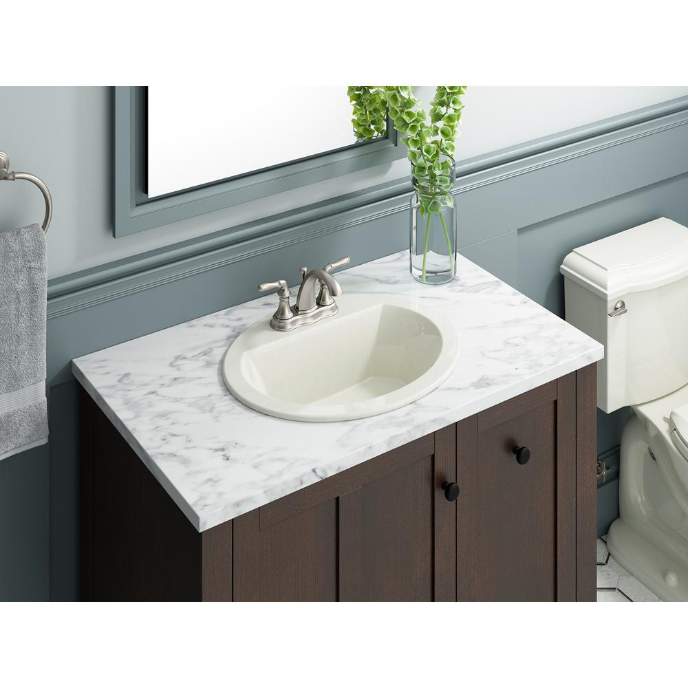 Kohler K 2699 4 95 Bryant Oval Self Rimming Bathroom Sink With 4 Centers Ice Grey Kitchen Bath Fixtures Tools Home Improvement Stanoc Com