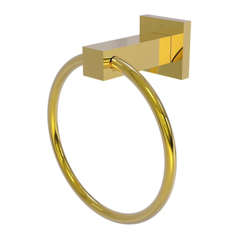 Montero Collection Towel Ring in Polished Brass