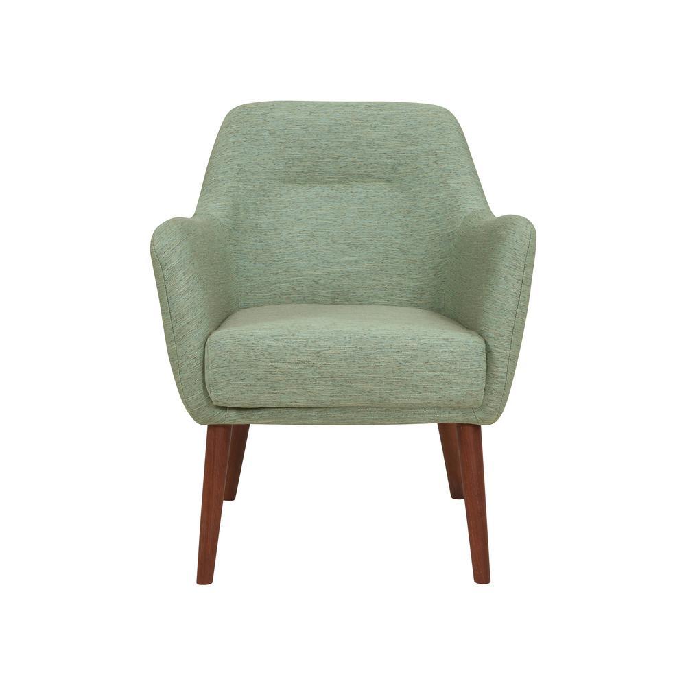 Handy Living Julesburg Mid Century Modern Arm Chair In Green
