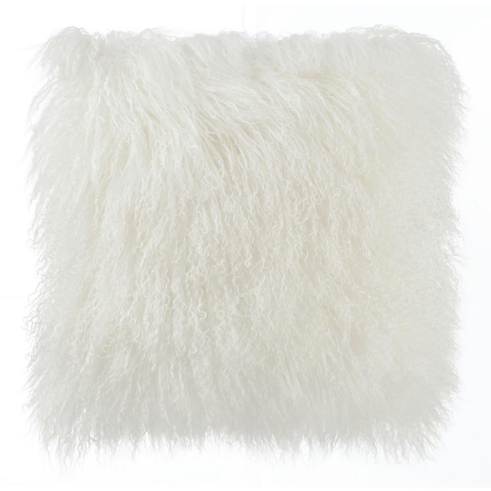 Tibetan Sheep Medium White Pillow