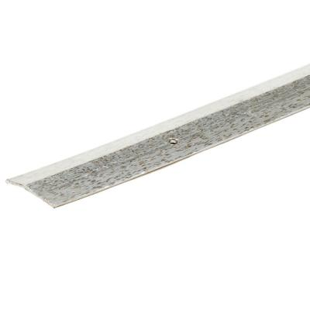 Silver Hammered 144 in. x 1-3/8 in. Carpet Trim