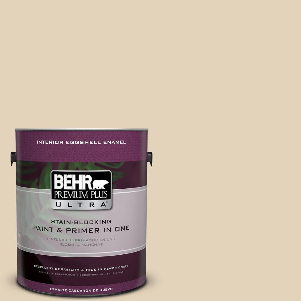 1 gal. #BXC-50 Stucco White Eggshell Enamel Interior Paint and Primer