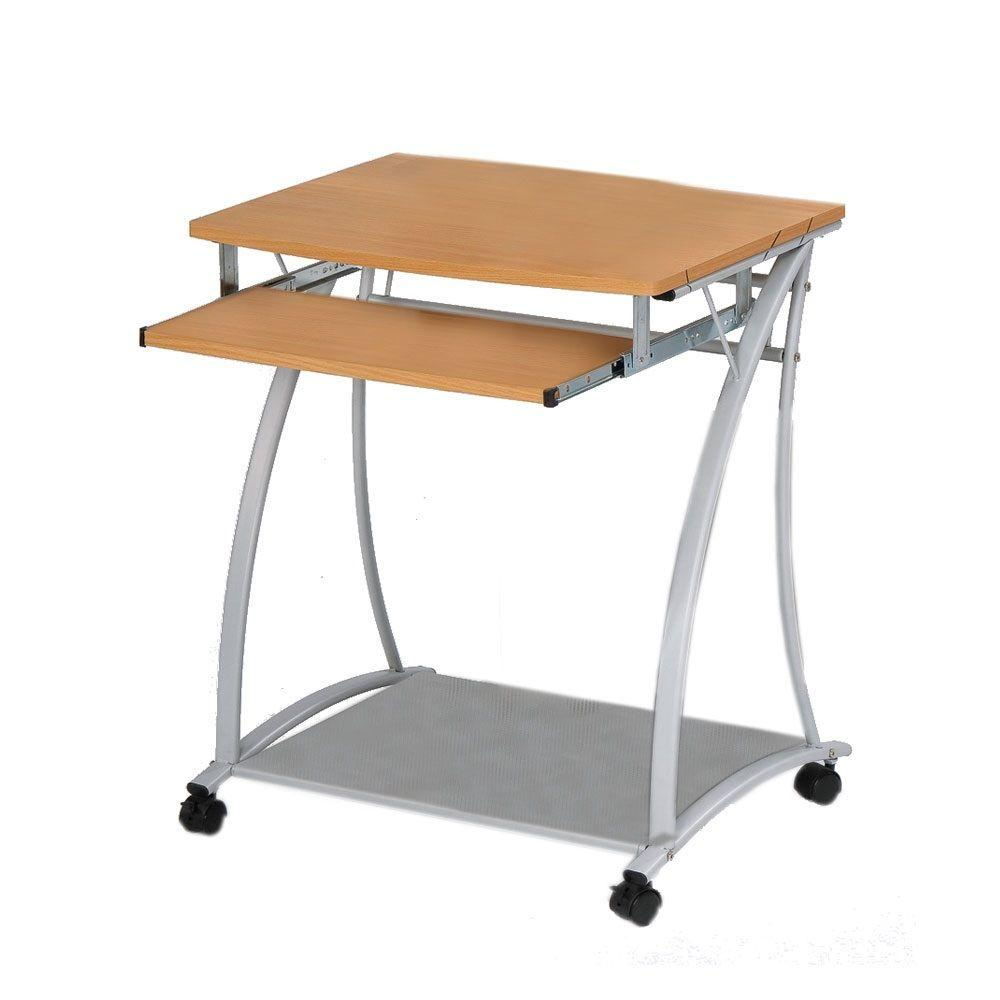 Home Decorators Collection Tass Natural Computer Desk with Wheels-DISCONTINUED