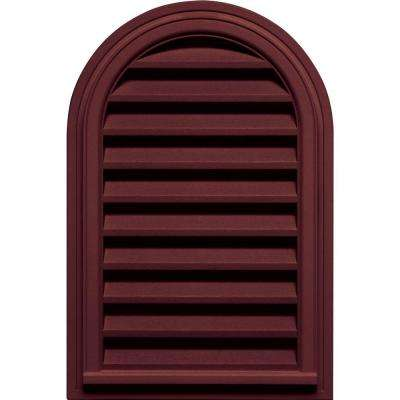 22 in. x 32 in. Round Top Gable Vent in Wineberry