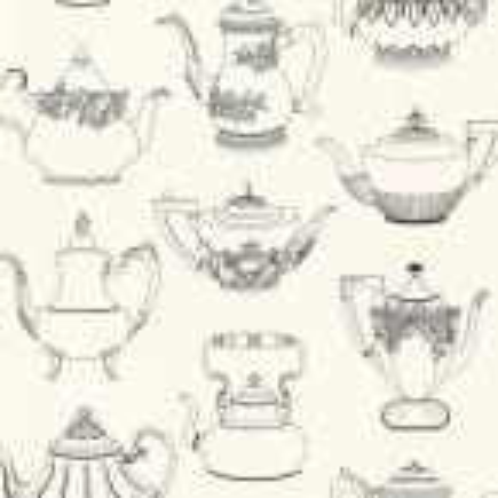 Brewster Valie Black Vintage Teapot Texture Wallpaper Sample