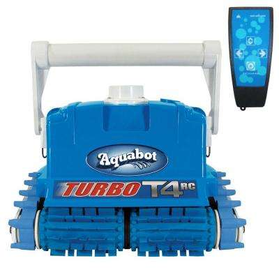 Turbo T4-RC Robotic Pool Cleaner for In Ground Pool with Caddy