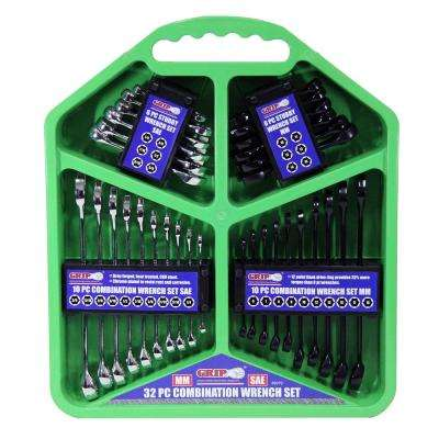 Combination Wrench Set MM/SAE (32-Piece)
