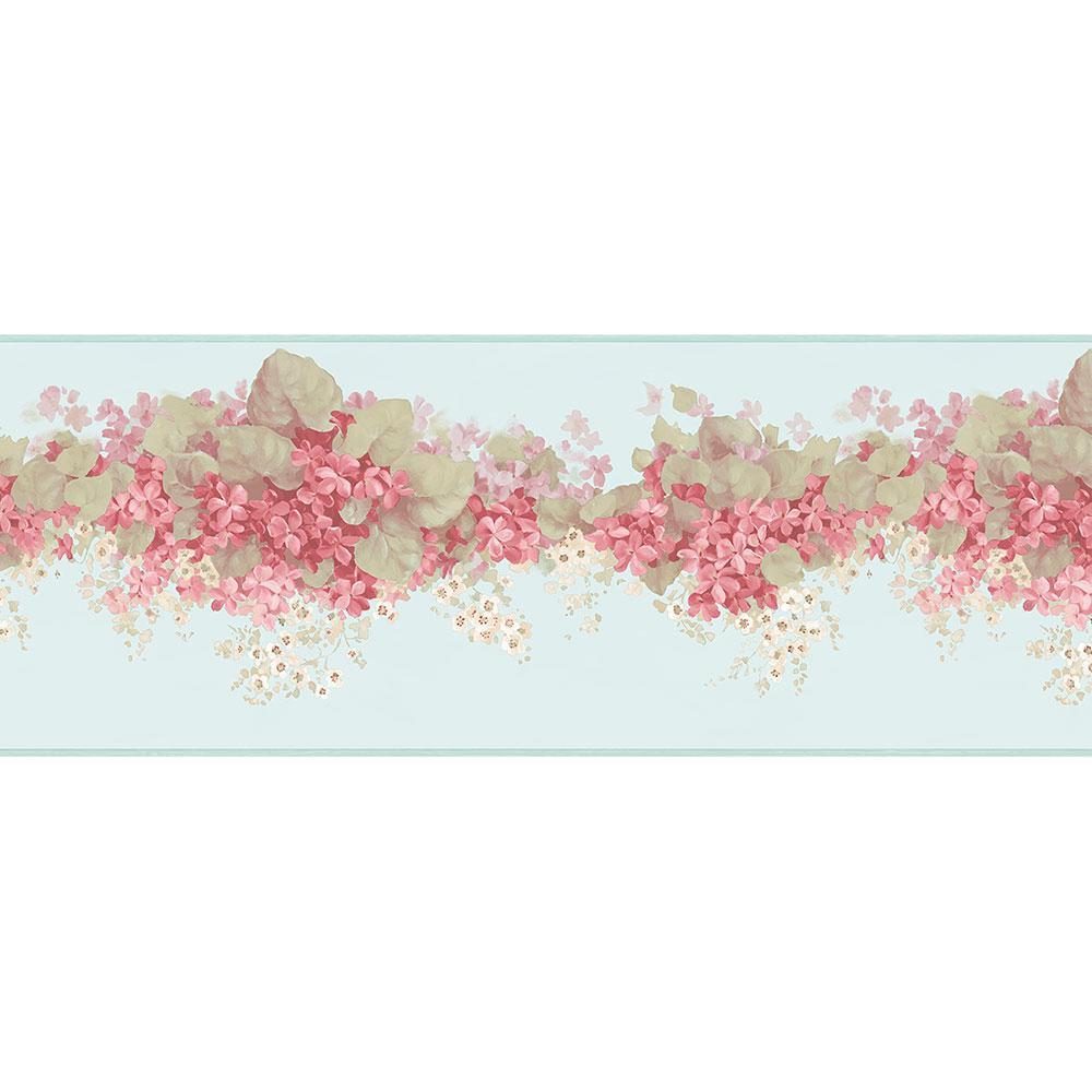 Norwall Hortensia Wallpaper Border
