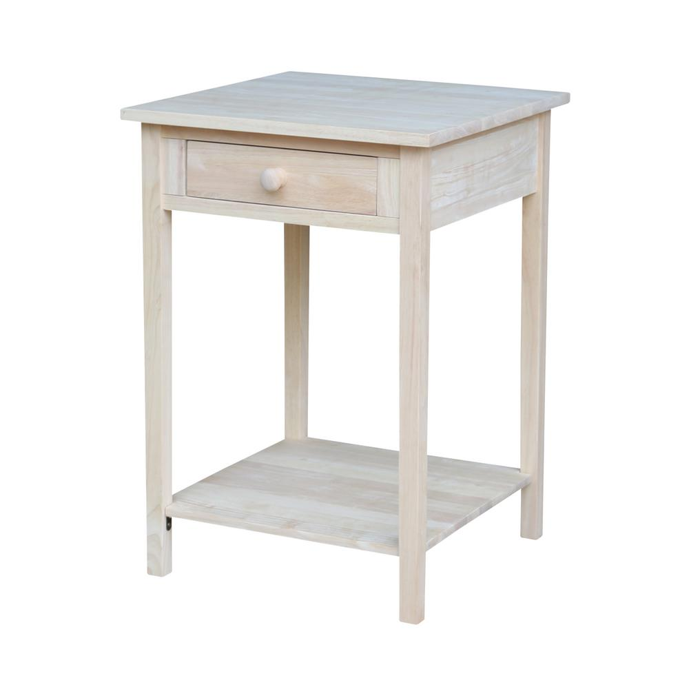 International Concepts Unfinished Bench Be 1: International Concepts Unfinished Storage End Table-OT-91