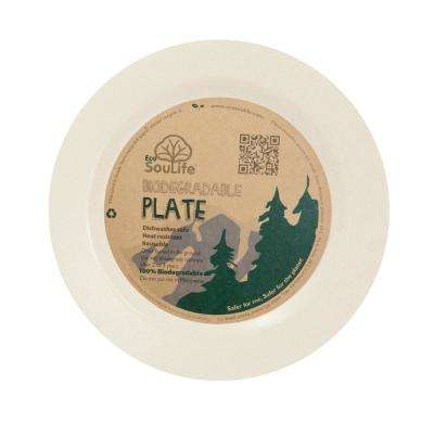 Bamboo 1-Piece Sand Dinner Plate (4-Pack)