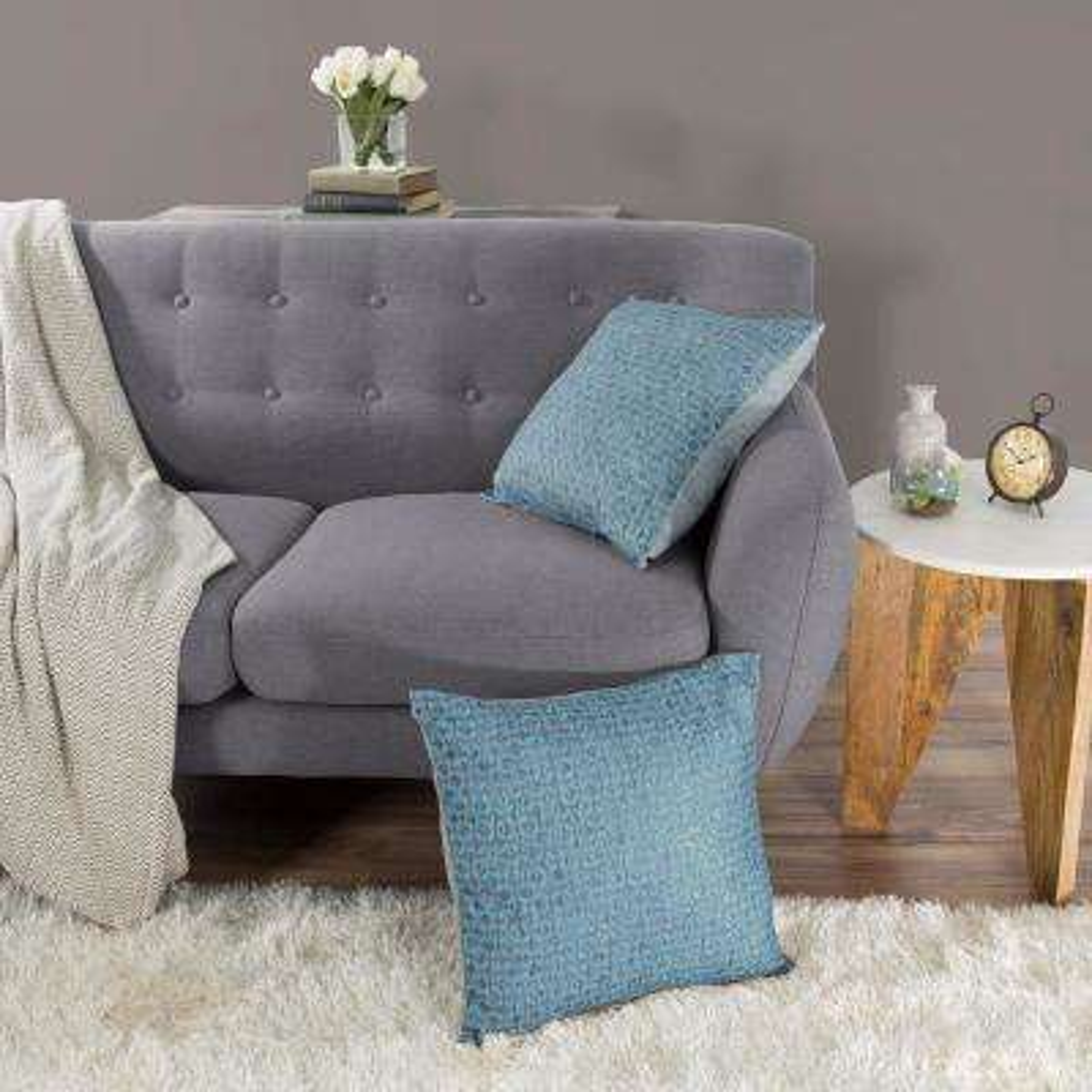 Modern Diamond Blue Decorative Pillow