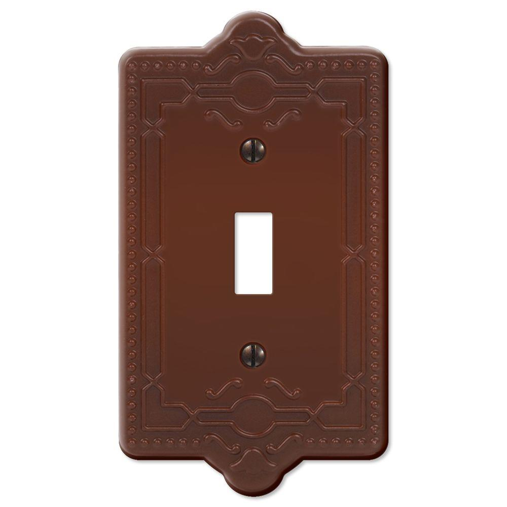 Creative Accents Steel 1 Toggle Wall Plate - Rust