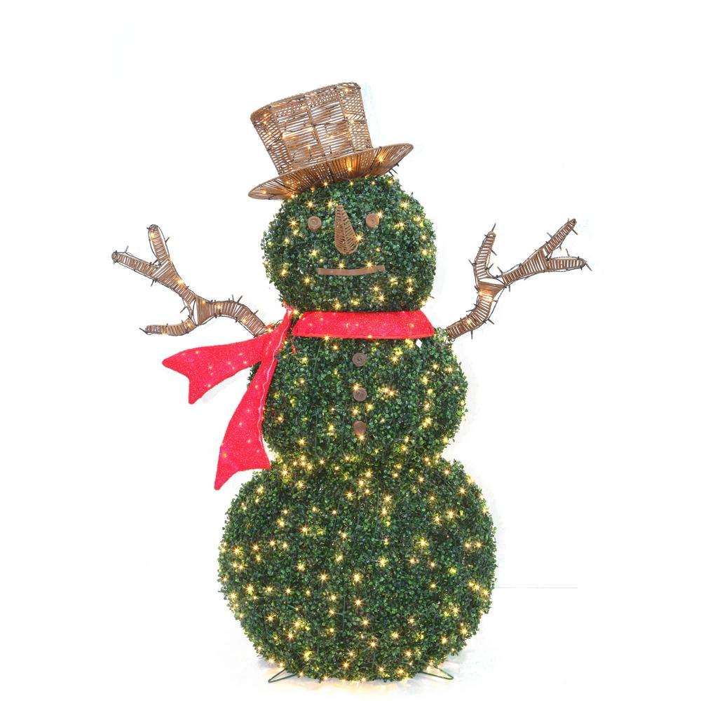 Outdoor Christmas Decorations Images: Home Accents Holiday 62 In. Topiary Snowman Sculpture With
