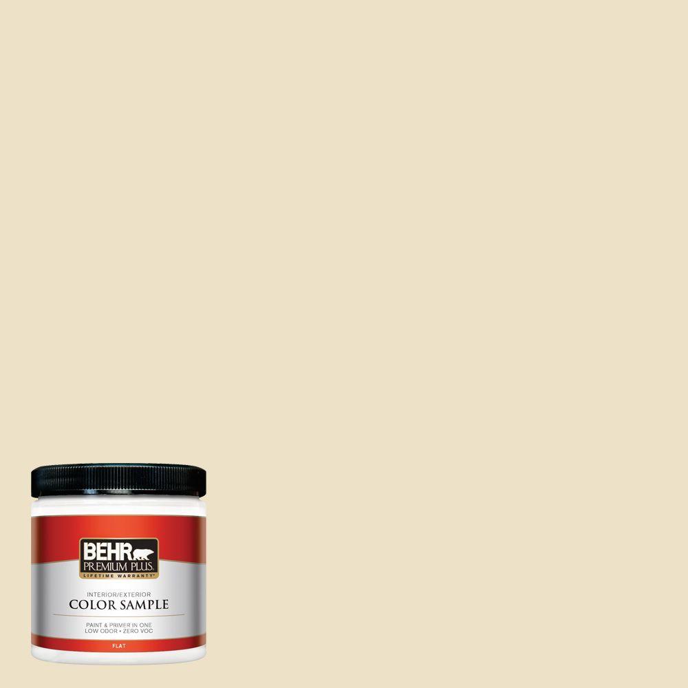 BEHR Premium Plus 8 oz. #370E-2 Cream Silk Interior/Exterior Paint Sample