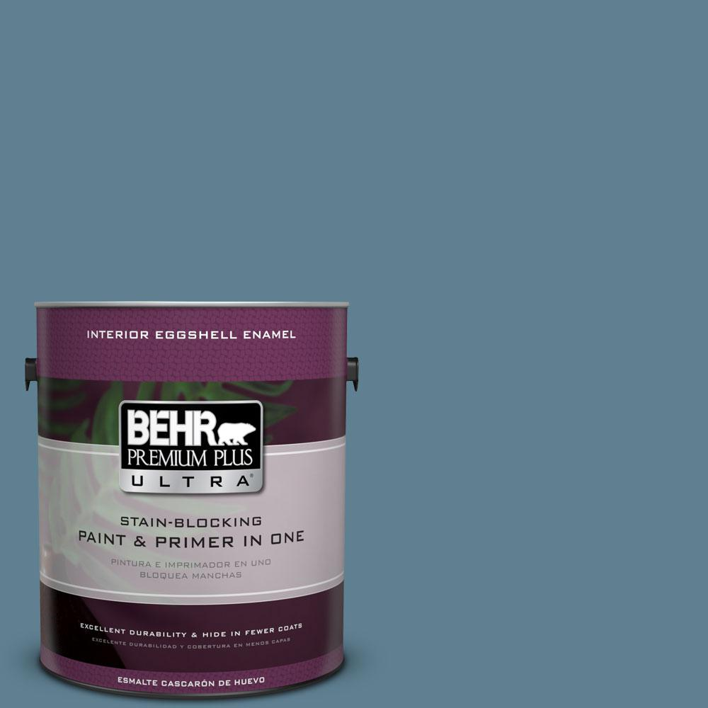 BEHR Premium Plus Ultra 1-gal. #BXC-36 Aegean Blue Eggshell Enamel Interior Paint