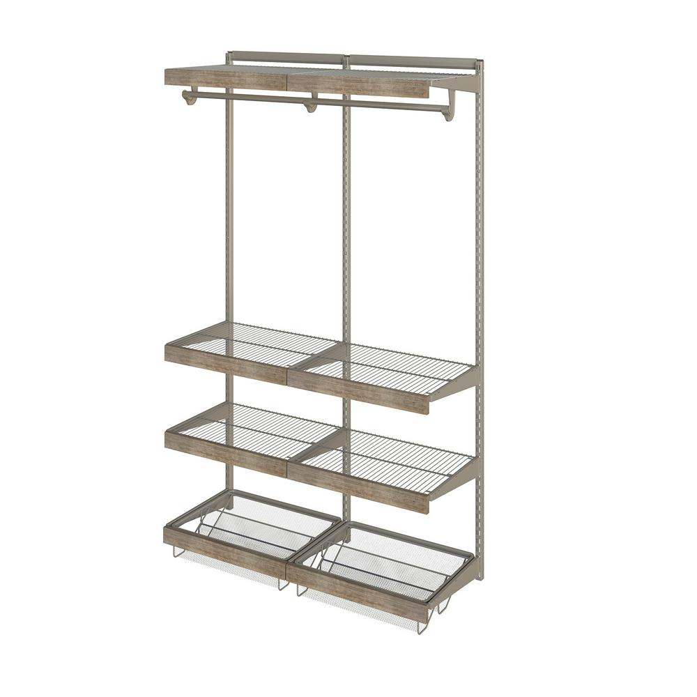 Closet Culture 48 in. W x 78 in. H Closet System with 6 Wire Shelves ...