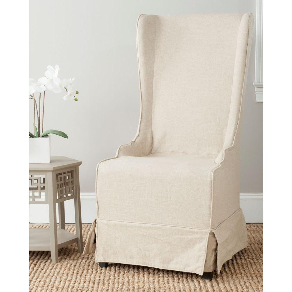 Safavieh Bacall Natural Cream Cotton Blend Dining Chair