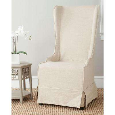 Bacall Natural Cream Cotton Blend Dining Chair