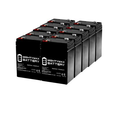 6-Volt 4.5 Ah SLA (Sealed Lead Acid) AGM Type Replacement Battery for Alarm/Security Systems (10-Pack)